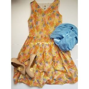 Talbots Floral Sleeveless Dress size 6 petite